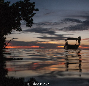 Evening light, Misool, Indonesia. by Nick Blake 